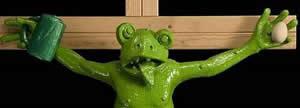 Der Frosch am Kreuz in öffentlichen Gebäuden?